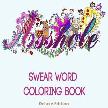 "Swear Word Adult Coloring Book Stress Relief Anti Stress Relaxing Therapy Fun "" FREE SHIPPING """