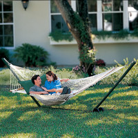 The Pawleys Island Oversized Rope Hammock - Hammacher Schlemmer