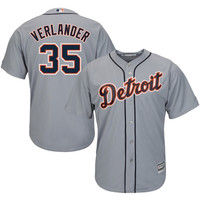 Justin Verlander Detroit Tigers Majestic Official Cool Base Authentic Collection Player Jersey – Gray