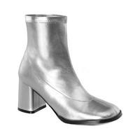 Women's Funtasma Gogo 150 Ankle Boot Silver Stretch Polyurethane | Overstock.com Shopping - The Best Deals on Boots