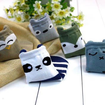 5 pairs cotton cute cartoon soft floor boys baby socks kids children thick baby sock new