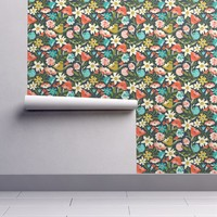 Isobar Durable Wallpaper featuring Nightshade - Floral by heatherdutton