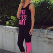 Too Fit to Quit Workout Capri's - Neon Pink
