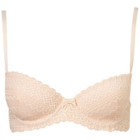 Linear Lace Balcony Bra