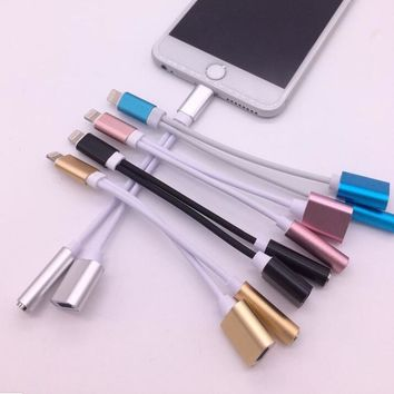 Best selling 2 In 1 for Lightning To 3.5mm Earphone Headphone Audio Jack and for Lightning Charger Adapter for Iphone 7 7 Plus