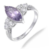 Vir Jewels Sterling Silver Amethyst Ring (1.20 CT)
