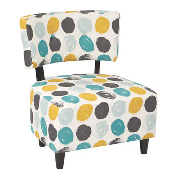 Ave Six Boulevard Chair - Brushed Dot Peacock