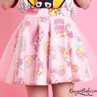 Kawaii Sweets Cake Icecream Layered Skirt