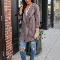 City Wide Jacket - Dark Taupe