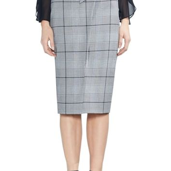Vince Camuto High Waist Glen Plaid Pencil Skirt | Nordstrom