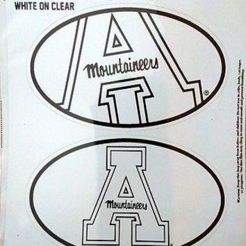 Appalachian State Mountaineers 2-Pack EURO STYLE Home Auto Decals University of