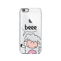 Sheep Cute Animal Clear Transparent Plastic Phone Case Phone Cover for Iphone 7/8PLUS_ SCORPIOshop (VA298, iphone 7/8PLUS)