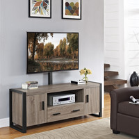 "60"" Urban Blend TV Stand with Mount - Driftwood/Black"