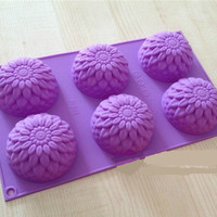 6 Hole Chrysanthemum Cake Mold Mould Baking Mold Tart Mold Pudding Mold Soap Mold Handmade Mold
