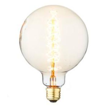 Swirl Filament - Edison Antique Vintage Oversize Light Bulb - 1 Pack - Medium size - 60 wattage - E26 - 3,000 hrs of life.  160 Lumens