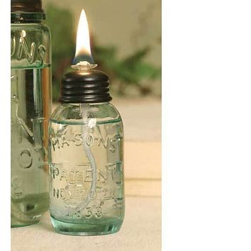 Set of 6 Miniature Mason Jar Oil Lamp