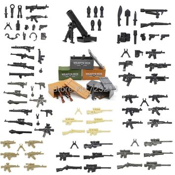 Single Sale Weapon Pack Box Military Figure Set Parts Legoingly Gun MOC Accessories SWAT Model Building Blocks Brick Kits Toys