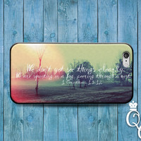 iPhone 4 4s 5 5s 5c 6 6s plus iPod Touch 4th 5th 6th Generation Custom Phone Case Cute Sun Bible Verse Quote Corinthians Cool Nature Cover