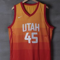 Utah Jazz #45 Donovan Mitchell Nike City Rainbow Edition NBA Jerseys
