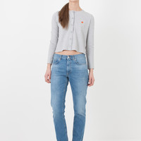 Carven Grey Oxford Cardigan