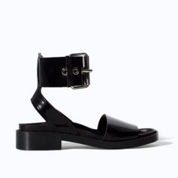 Black New Summer Lace Up Sandals = 4777195844