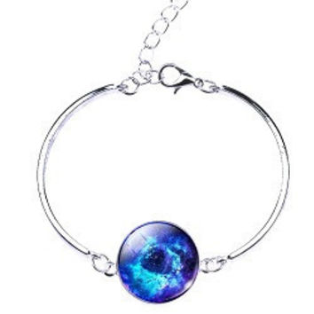 Glass Galaxy Moon Bracelet: Special Edition