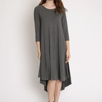 Celine High Low Trapeze Dress In Charcoal | Ruche
