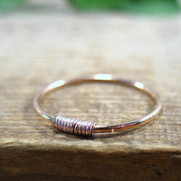 Stacking Ring Pink Gold with Pink Gold