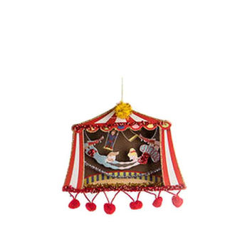 One Hundred 80 Degrees Circus Theme Hanging Paper Ornament