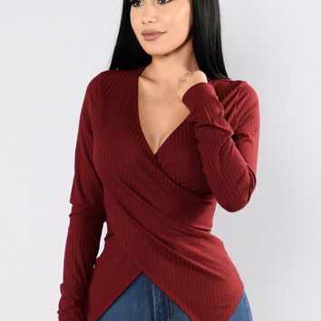 Be Together Top - Burgundy