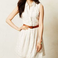 Joussard Lace Shirtdress by Anthropologie Ivory