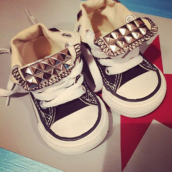 Toddler Custom Studded Converse! Chuck taylor custom shoes! ALL SIZES & COLORS!!