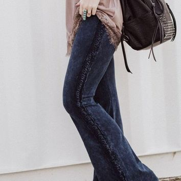 Cher Mineral Washed Flare Pants