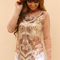 Sparkle On The Heart Top: Multi - Tops - Hope's Boutique