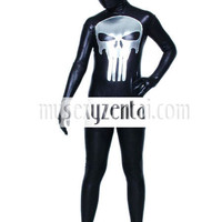 Shiny Metallic Black And Silver Zentai Suit [TSS11014] - $35.99 : Zentai, Sexy Lingerie, Zentai Suit, Chemise