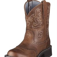 Cute Ariat Saddle Russet Rebel Brown Cowgirl Boot
