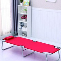 outdoor camping portable folded bed stretcher canvas office noon break march
