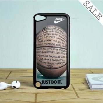 DCCKHD9 nike air jordan jump mint glitter iPod Touch 5 Case