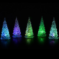 Crystal Christmas Tree LED Table Lamp Light Ornaments Decoration Xmas Party HU