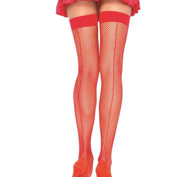Leg Avenue Female Fishnet Stocking W/Back Seam 9112