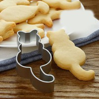 Conch Cat Elephant Shapes Cookie Cutter Food Grade Stainless Steel Biscuit Mold Baking tools Home kitchen supplise