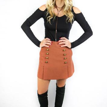 Grand Central Cognac Skirt