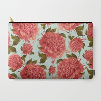 A Splash of Peony, A Dash of Color Carry-All Pouch by Kristy Patterson Design | Society6