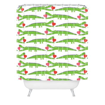 Andi Bird Alligator Love Shower Curtain
