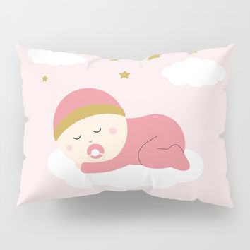 It's a girl Pillow Sham by Graf Illustration
