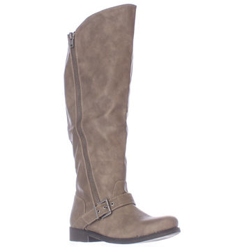 Carlos by Carlos Santana Gramercy Wide Calf Tall Western Boots - Taupe