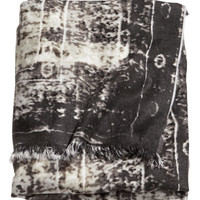H&M - Woven Throw - Dark gray