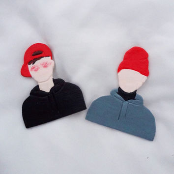 Twenty One Pilots Pins // Josh Dun and Tyler Joseph