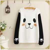 Cute panda pattern sweater