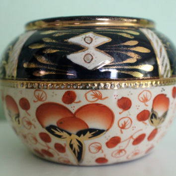 Beautiful Jar, Bowl made in England, English Ceramic Dish, Vase